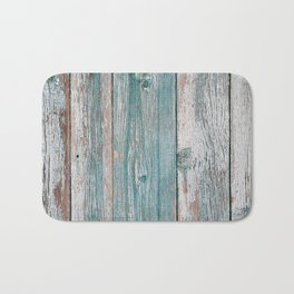 Old wood vintage background Bath Mat