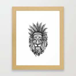The Chief, Black and White. Framed Art Print