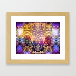 Fractalic Pineal Metatron | Foundant Dusa | Melting Soul Framed Art Print