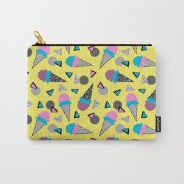 Cruncher - memphis throwback ice cream cone desert 1980s 80s style retro geometric neon pop art Carry-All Pouch