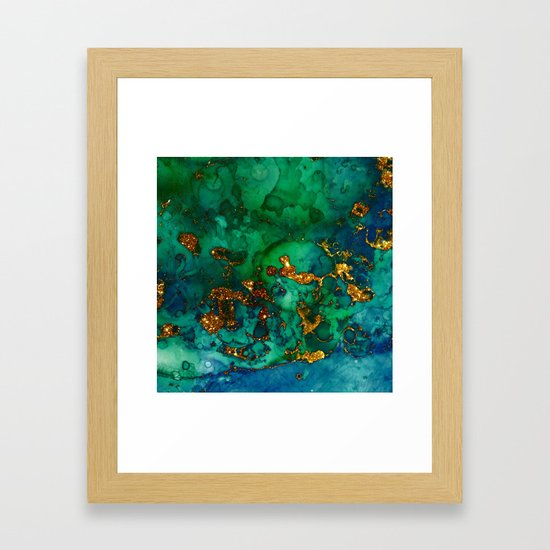 Emerald And Blue Glitter Marble by originalaufnahme