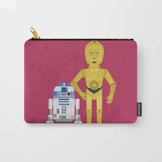 C3P0 and R2D2 vector Carry-All Pouch
