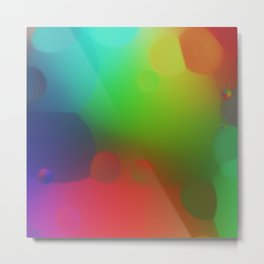 misc fantasy color drops B Metal Print
