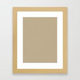 Khaki Brown Light Pixel Dust Framed Art Print