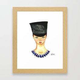 Soldier Girl Framed Art Print