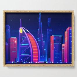 Synthwave Neon City #21: Dubai Serving Tray