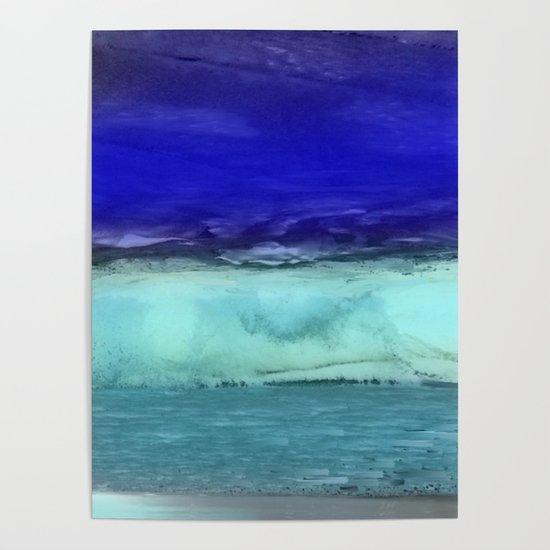 Midnight Waves Seascape by jenartanddesign