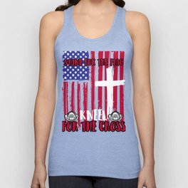 Firefighter Stand for the Flag Kneel Cross product Unisex Tank Top