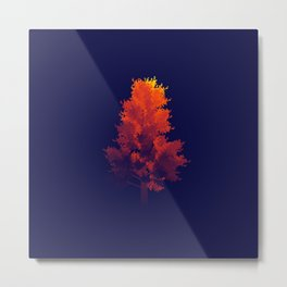 JHåland Gradient Tree Metal Print