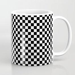 Black And White Checks Minimalist Coffee Mug