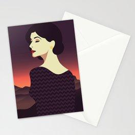 Girl Retro Style 03 Stationery Cards