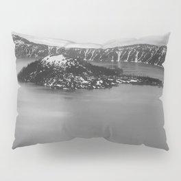 Mountain Lake View B&W Pillow Sham