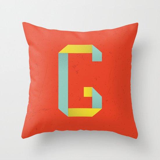 G 001 Throw Pillow
