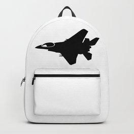 F16 War Plane Jet Silhouette Backpack