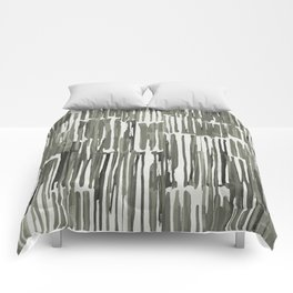 Simply Bamboo Brushstroke Green Tea on Lunar Gray Comforters