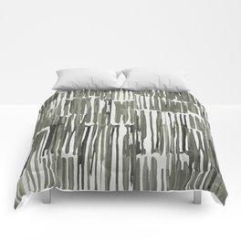Simply Bamboo Brushstroke Green Tea on Lunar Gray Comforters