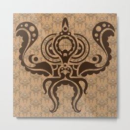 Victorian Octopus Metal Print