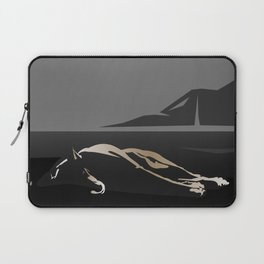 Silhouette of a Dog Laptop Sleeve