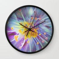 blossom Wall Clocks featuring Blossom by Klara Acel