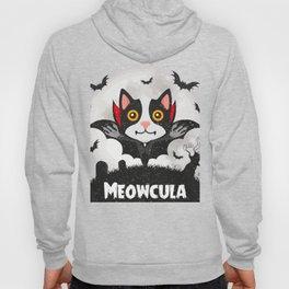 Meowcula Funny Halloween Cat Hoody