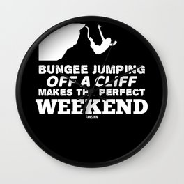 Bungee jumping adrenaline test of courage Wall Clock