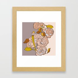 All we need is roses Framed Art Print
