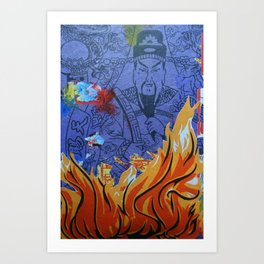 Burnin' Paper 1 Art Print