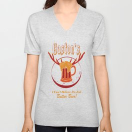 Gaston's I Can't Believe It's Not Butter Beer! Unisex V-Neck