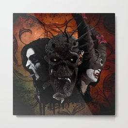 The Creepy Metal Print