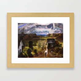"""George Wesley Bellows """"The white horse"""" Framed Art Print"""