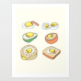 Pug Egg Recipes Art Print