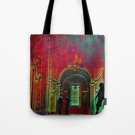 The Crushing Weight of Defeat:  Divide Tote Bag