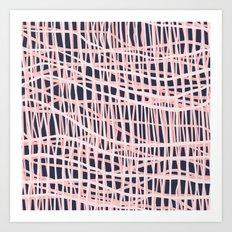 Net Bush and Navy Art Print
