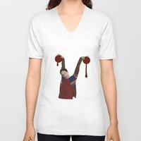 vampire V-neck T-shirts featuring Vampire by mycolour