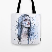 shipping Tote Bags featuring obstinate impasse by agnes-cecile