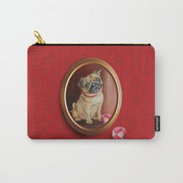 Pug on the damask Carry-All Pouch