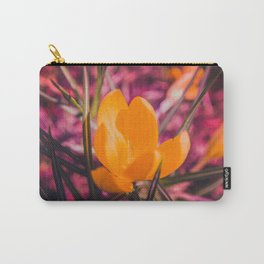 yellow crocus on pink Carry-All Pouch