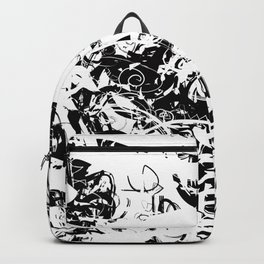 The Florest | Black and White Abstract Art | Art Prints Abstract Backpack