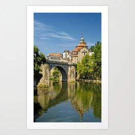 Amarante the Roman Bridge, Portugal Art Print