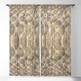 Snake skin pattern Sheer Curtain