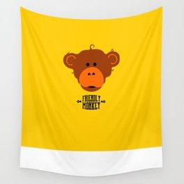 friendly monkey Wall Tapestry