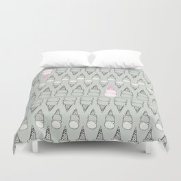 Two Scoops Mint Ice Cream Duvet Cover