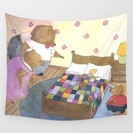 Goldilocks Caught Sleeping Wall Tapestry