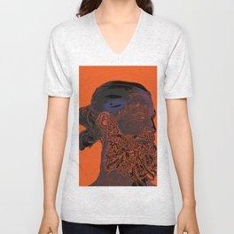 Hipster Neptune - orange Unisex V-Neck