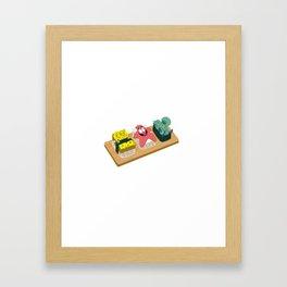 Spongebob Sushi Framed Art Print
