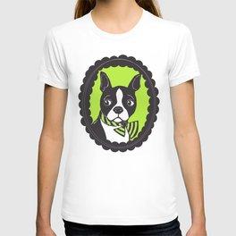 Boston Terrier Printmaking Art T-shirt