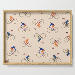 Bike Pattern Serving Tray