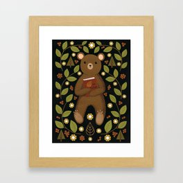 story bear Framed Art Print