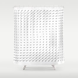 Vector Field basic - Gray Shower Curtain