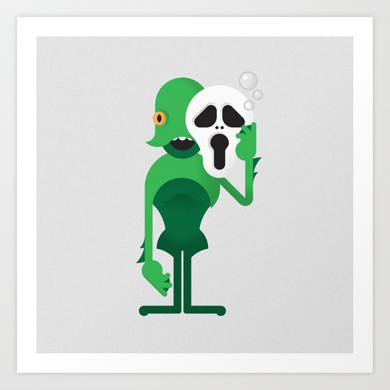 Swamp Thing / Ghostface Art Print